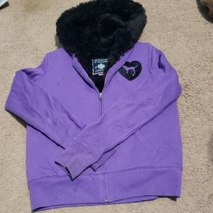 PINK Victoria's Secret Jackets & Coats - Limited edition pink faux fur zip up hoodie